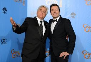 Friends or Foes?  Jay Leno and Jimmy Fallon Make Nice. (NBC)