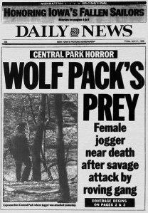 Central Park Jogger Headline