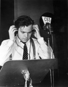 Orson Welles on the job.