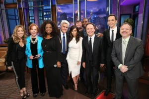 "Jay Leno's closing show.  Some famous guests gathered to wish Jay ""farewell."" Photo: Stacie McChesney/NBC."