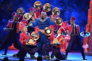Tony winner James Monroe Iglehart brought down the house in this number from ALADDIN.  Photo: Theo Wargo/Getty Images for Tony Awards Productions.
