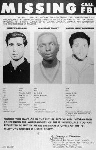 Poster Of Missing Civil Rights Workers