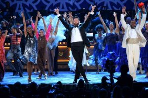 Actor Hugh Jackman captivated the crowd as host of the 68th annual TONY AWARDS on Sunday, June 8. Photo: Theo Wargo/Getty Images for Tony Awards Productions.