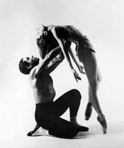 Francisco Moncion and Tanquil Le Clercq perform in Jerome Robbins' ballet, Afternoon of a Faun, in 1953.  Photo: Augusta Films.