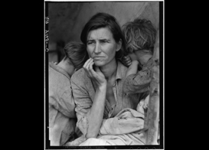 Dorothea Lange's haunting portrait of a  Depression-era MIGRANT MOTHER, is just one of many Lange photographs that powerfully capture the desperation of poverty in America, circa 1936.  Photo: Dorothea Lange.