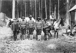 Seven companies of Buffalo Soldiers, the first African-Americans  to serve as peacetime soldiers, heroically tackled and helped contain the Big Burn.  Photo courtesy of The Museum of North Idaho.
