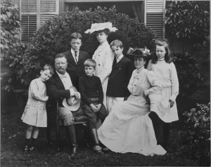 President Theodore Roosevelt's young, rambunctious family  energized the staid White House and  captured the hearts of Americans.  Photo courtesy Theodore Roosevelt Birthplace National Historic Site.