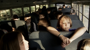 School buses are often the site of brutal bullying.  From BULLY.  Photo:  Michael Dwyer.