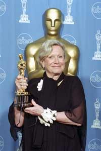Ann Roth accepts her 1996 Oscar.
