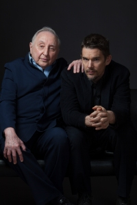 Seymour Bernstein and Ethan Hawke  explore the meaning of mentorship in SEYMOUR: AN INTRODUCTION.  Photo courtesy Robin   Holland. A Sundance Selects release.