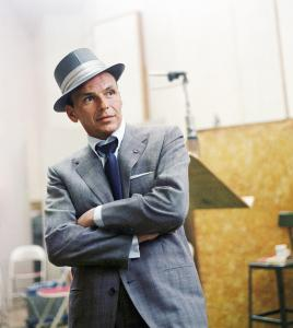 Frank Sinatra at a Capitol Records recording session in Los Angeles, CA. 1954. Photo © 1978 Sid Avery.