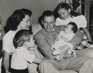 Frank Sinatra, with his first wife Nancy and, from left son Frank, Jr., daughters Tina and Nancy, Jr. Photo courtesy HBO.