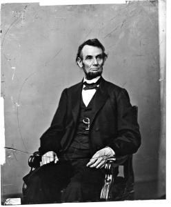 The portrait of Abraham Lincoln that appears on the U.S. $5 bill. Photo: Meserve-Kunhardt Foundation. Courtesy HBO.