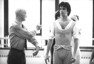 "Choreographer Antony Tudo (left) coaching American Ballet Theatre dancer  Kevin McKenzie in Tudo's ballet ""Jardin Aux Lilas,"" circa 1986.  Photo: Paul B. Goode."