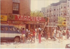 Trophies by Syl was looted on July 13, 1977.  Its co-owner, In AMERICAN EXPERIENCE: BLACKOUT, Elzora Williamson, recalls the devastation and consequences she and her husband Syl faced.  Photo courtesy Elzora Williamson.