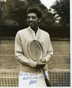 Althea Gibson, approx. 1957 Courtesy Johnson Family Archives