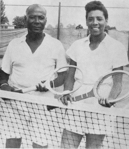 Althea Gibson with Dr. Robert W. Johnson, one of her mentors. Photo courtesy Johnson Family Archives.