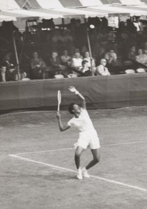 Althea Gibson at the West Side Tennis Club, Forest Hills, NY, 1957. Photo courtesy West Side Tennis Club Archives.