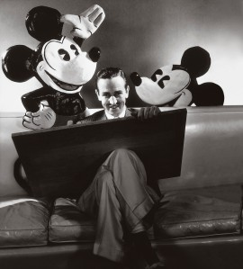 Walt Disney shares a moment with Mickey and Minnie, circa October 1933. Photo © Condé Nast Archive/Corbis.