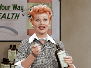 "Lucy Ricardo, the eternal show biz wannabe, tackles an especially tasty TV commercial gig in the newly colorized classic episode: ""Lucy Does a TV Commercial."" Photo ©2015 CBS Broadcasting, Inc."