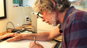 Esteemed cartoonist and cartoon editor at THE NEW YORKER, Bob Mankoff, is featured in VERY SEMI-SERIOUS. Photo: Kristi Fitts. Courtesy HBO.