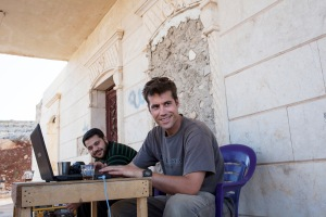 James Foley in Syria in 2012 Photo: Nicole Tung. Courtesy HBO.