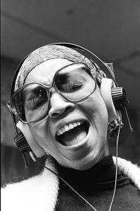 Mavis Staples sings solor in the mid-1970s. Photo: Marc PoKempner. Courtesy HBO.