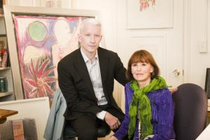 Anderson Cooper and his mom, Gloria Vanderbilt. Photo courtesy HBO.