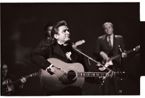 Johnny Cash (19xx-2003) died less than two years after his close pal, Waylon Jennings (19xx-2002) passed away. Photo JT Phillips, courtesy Sony Music Archives.
