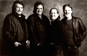American Masters looks back at the pioneering outlaw country music group, The Highwaymen, featuring (from left): Waylon Jennings, Johnny Cash, Willie Nelson and Kris Kristofferson. Photo; Jim McGuire, courtesy Sony Music Entertainment
