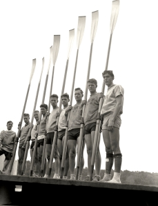 The University of Washington's varsity crew team at the Poughkeepsie Regatta Races in June 1936. Photo courtesy of Corbis.