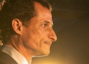 Anthony Weiner runs on empty by election day. From the documentary, WEINER. Photo courtesy of SHOWTIME.