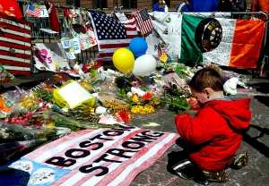 Two-year-old Wesley Brillant of Natick, Mass.