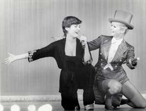 Carrie Fisher and her mom, Debbie Reynolds, share the stage. As seen in BRIGHT LIGHTS. Photo: Fisher Family Archives. Courtesy HBO.