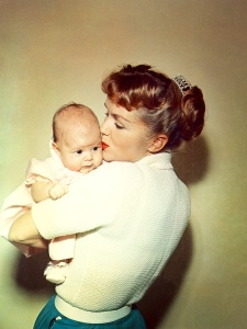Everlasting love. Mother and daughter bond at the dawn of their life together. From BRIGHT LIGHTS: STARRING CARRIE FISHER AND DEBBIE REYNOLDS. Photo: Fisher Family Archives. Courtesy HBO.
