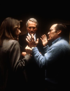Sidney Lumet directing Charlotte Rampling and Paul Newman in THE VERDICT in 1982. Photo courtesy ©Everett Collection.