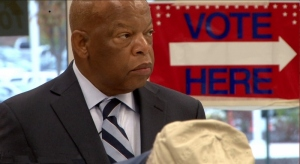 Civil Rights activist and Congressional leader John Lewis at his polling station in Atlanta, GA. Photo courtesy Early Light Productions.