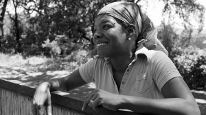 Dr. Maya Angelou at home in Sonoma, Calif., in the late 1970s/early '80s. Photo: Magnum.