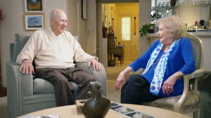 Laughter was the best medicine according to Carl Reiner and Betty White, who shared the secrets of their longevity in IF YOU'RE NOT IN THE OBIT, EAT BREAKFAST. Photo courtesy HBO.