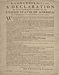 a look at the changes in the declaration of independence Function get_style63 function end63_ the declaration of independence: the document background on june 8, 1776, the continental congress voted to write a declaration.