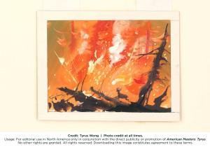 BAMBI (visual development) by Tyrus Wong, 1942. Watercolor on paper. Photo: Tyrus Wong.