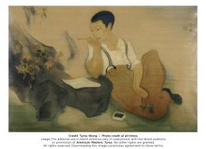 Tyrus Wong's Self Portrait, circa late 1920s. Photo: Tyrus Wong.