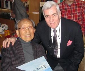 Tyrus Wong and John Canemaker. Photo courtesy John Canemaker.