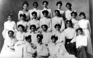 A Spelman College class, circa 1898. From TELL THEM WE ARE RISING: THE STORY OF BLACK COLLEGES AND UNIVERSITIES. Photo courtesy Spelman College.