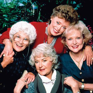 Florida here we come! THE GOLDEN GIRLS (clockwise from top: Rue McClanahan, Betty White, Bea Arthur and Estelle Getty).
