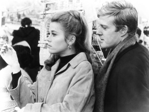 Lifelong pals, Jane Fonda and Robert Redford, co-starred in the romantic comedy, BAREFOOT IN THE PARK, in 1967. Photo: Timothy Greenfield-Sanders. Courtesy HBO.