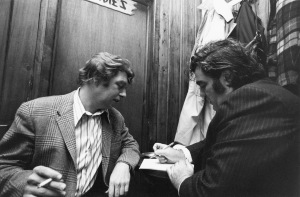 Legendary NYC newspaper columnists Pete Hamill and Jimmy Breslin compare notes in their heyday. Photo courtesy Pete Hamill and HBO.