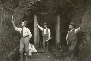 John CC Mayo (center) and his colleagues consolidating ownership of natural resources in the Tug Fork Valley in the late 1800's. Photo courtesy of University of Pikeville, Frank M. Allara Library Special Collections, Mayo Collection.