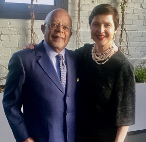 FINDING YOUR ROOTS writer/producer/host Henry Louis Gates, Jr., has surprises in store for actress Isabella Rossellini about her mom's Swedish ancestors. Photo courtesy McGee Media.