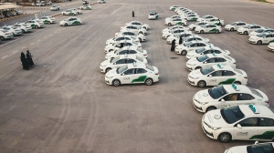 Seven hundred instructors and 250 cars await eager female-only students in the SAUDI WOMEN'S DRIVING SCHOOL, in Riyadh, Saudi Arabia. Photo courtesy HBO.